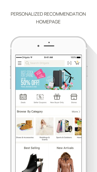 Screenshot for DHgate-Online Wholesale Stores in Poland App Store