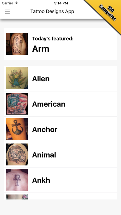 Tattoo Designs App screenshot