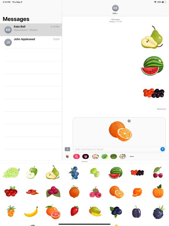 Fruit Delicious Stickers screenshot 6