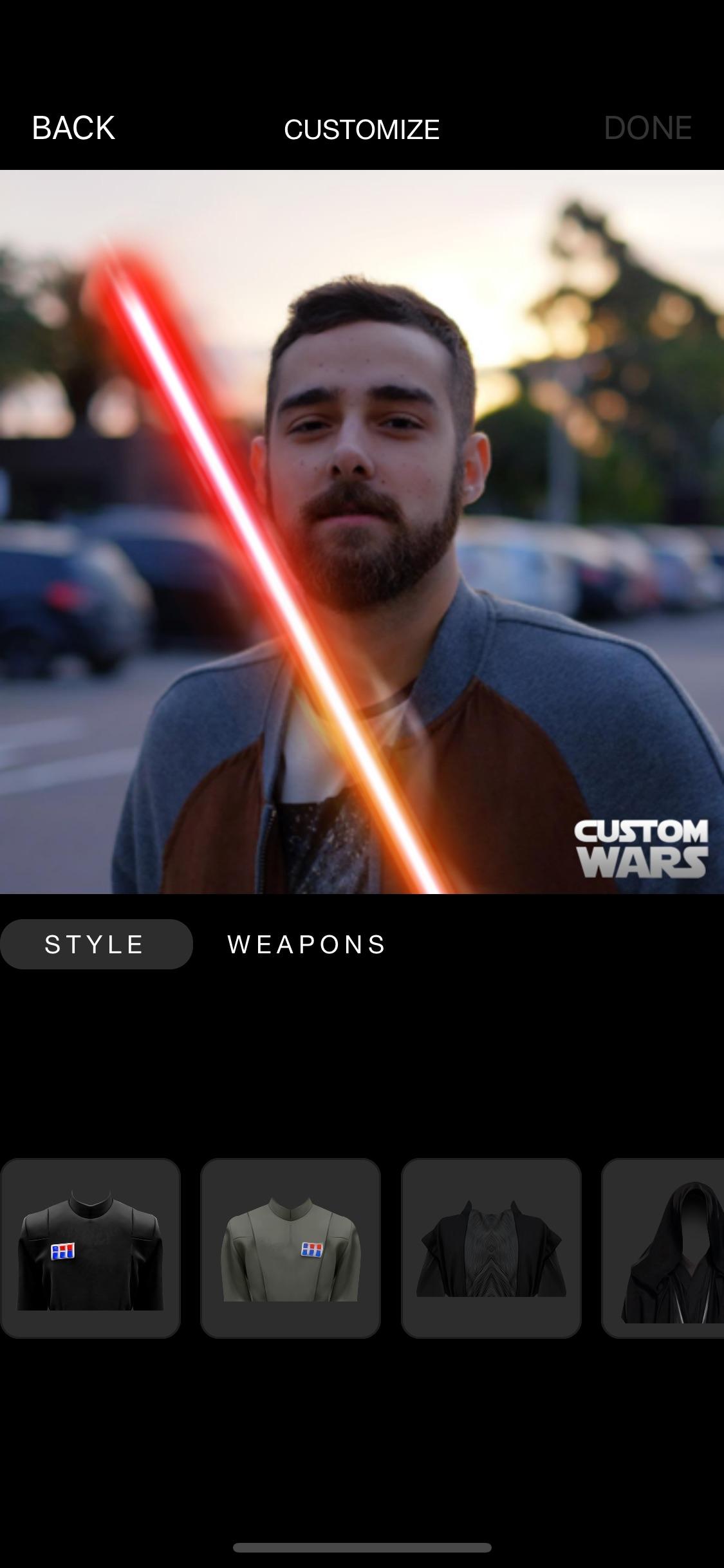 Screenshot do app Custom Wars - Be a jedi star