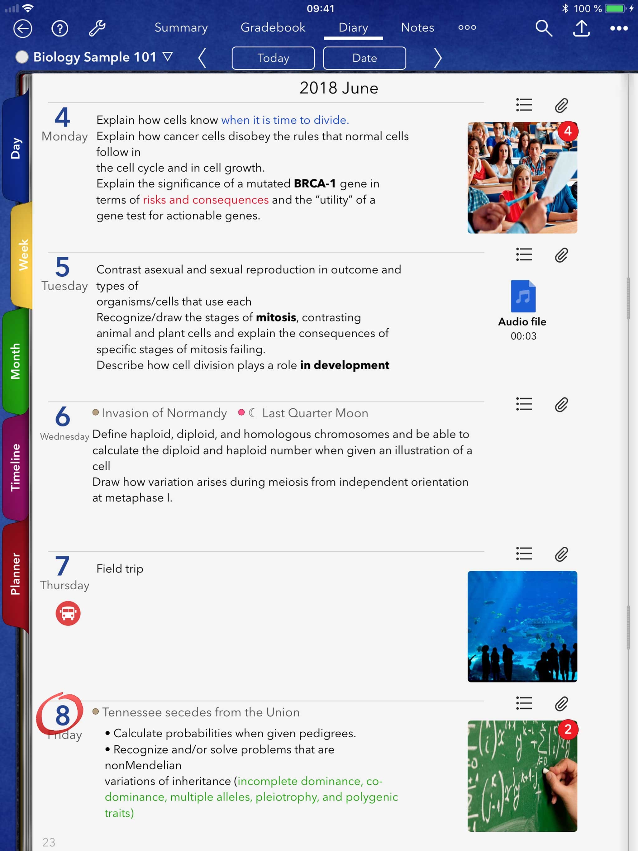 iDoceo - Teacher gradebook Screenshot