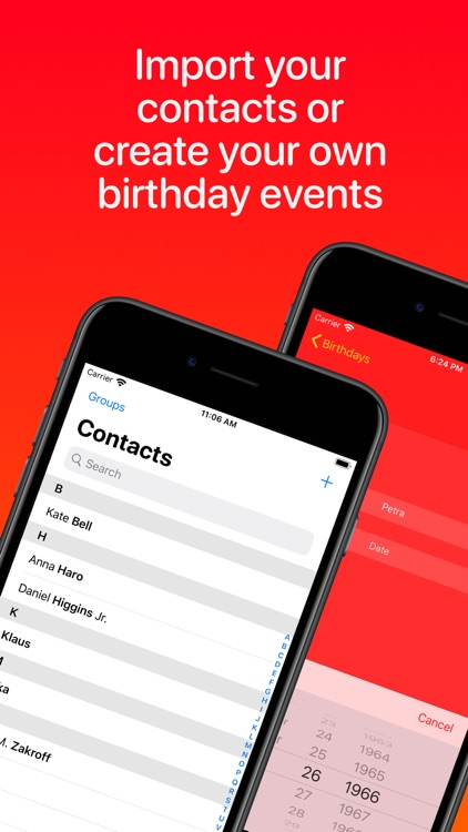 BDayz: Birthday Reminder screenshot-4