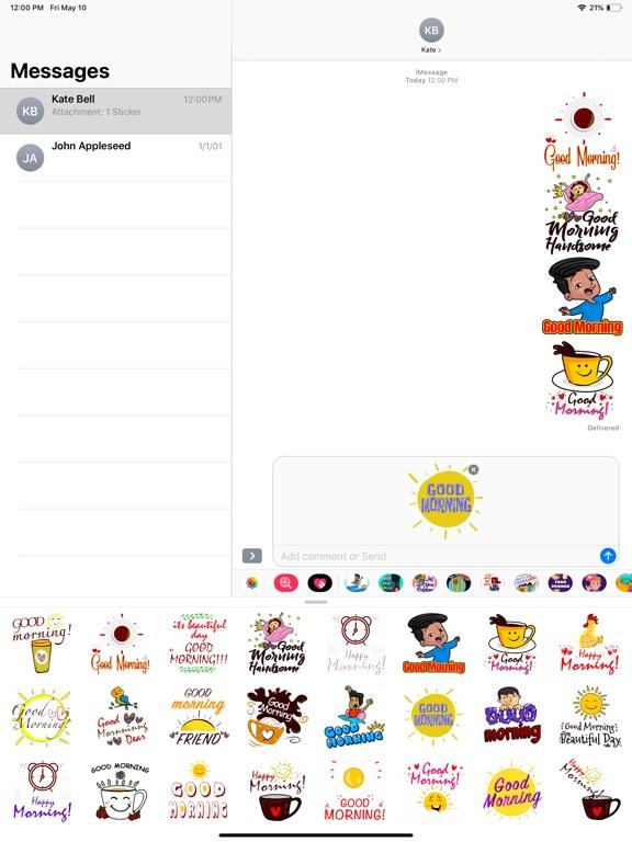 Good Morning Fresh Stickers screenshot 6