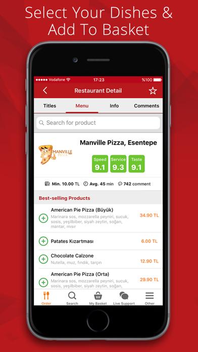 Screenshot for Yemeksepeti in Germany App Store