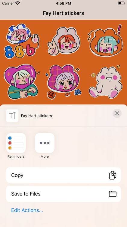 Fay Hart stickers screenshot-3