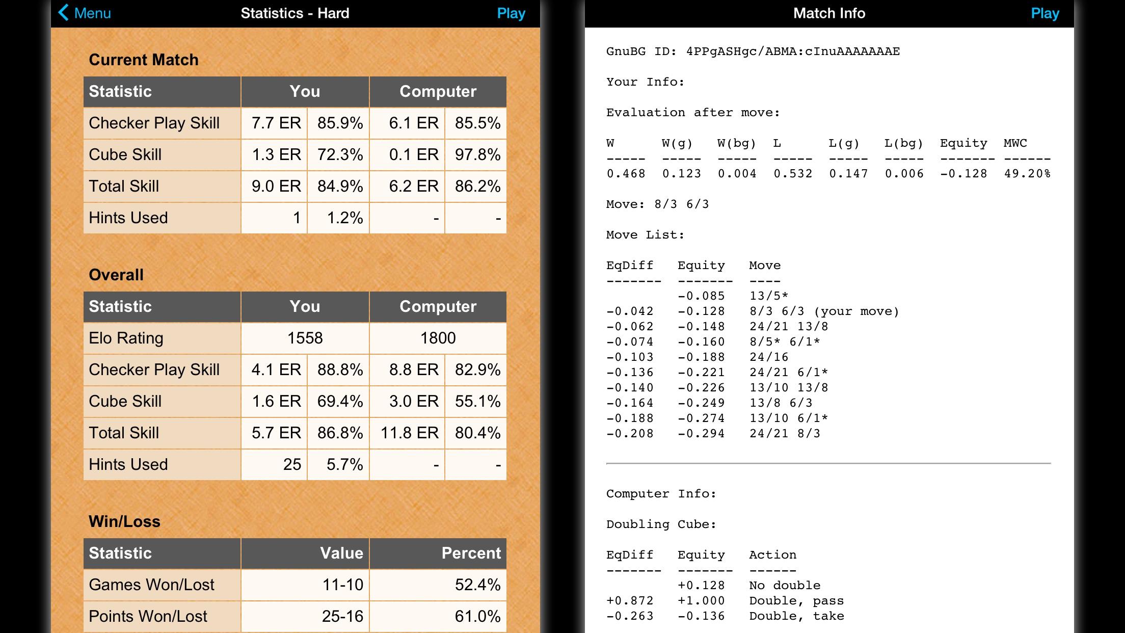Backgammon NJ HD Screenshot