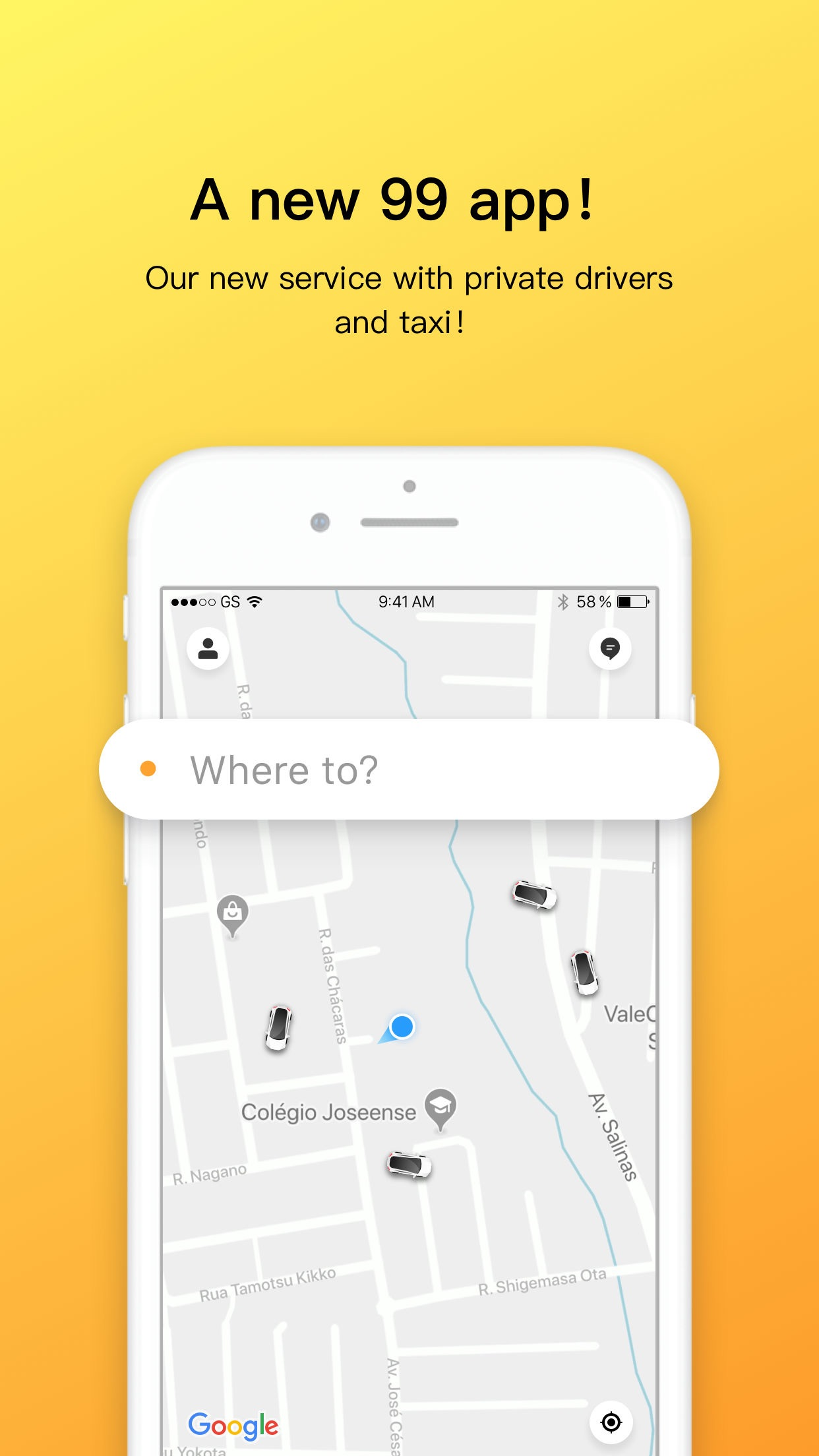 99 - Private drivers and Taxi Screenshot