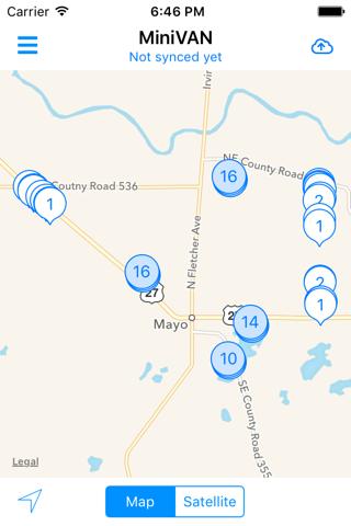 Screenshot of MiniVAN Touch