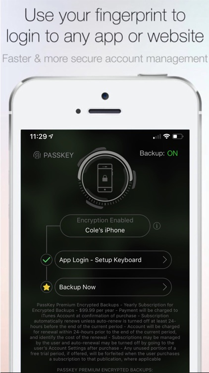 Fingerprint Login:PassKey Lock screenshot-3