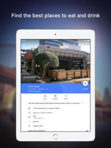 Screenshot of Google Maps - Transit & Food