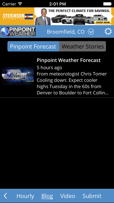 Pinpoint Weather review screenshots