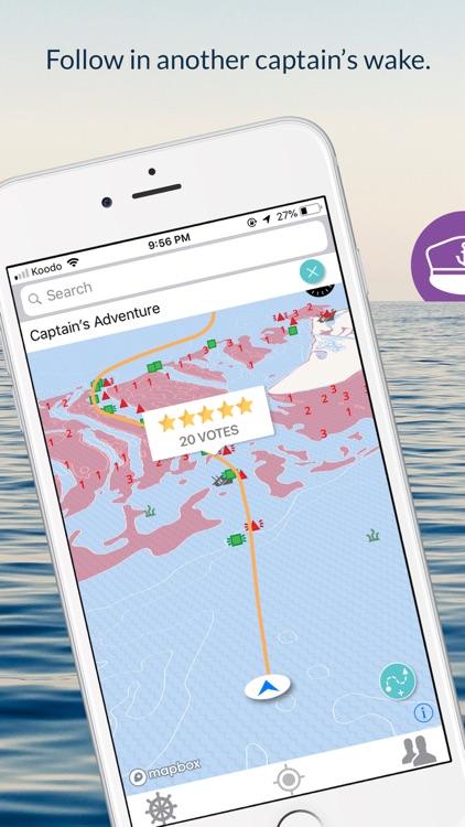 Wavve Boating-Easy Marine GPS screenshot-0
