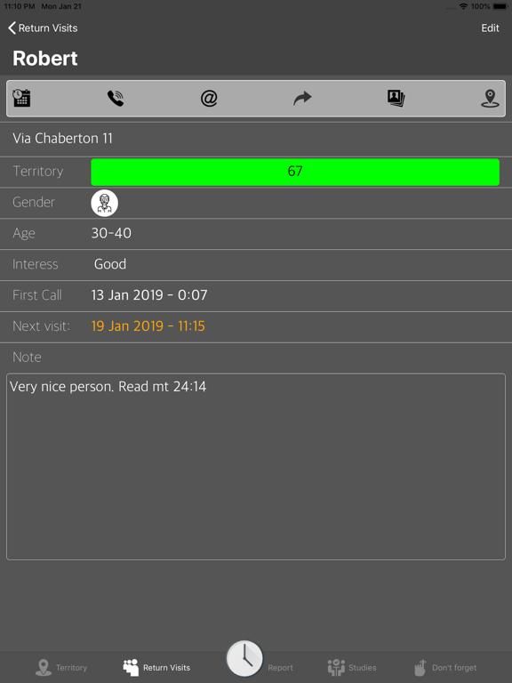 Service Notes Screenshots