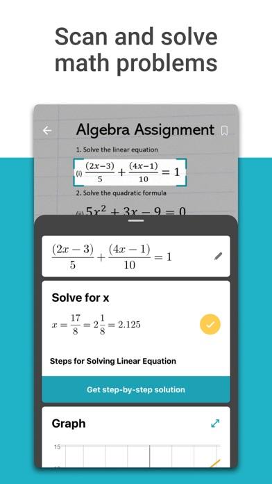 Microsoft Math Solver - HW app screenshot 1