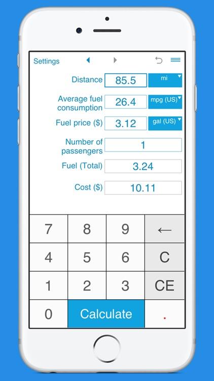 Trip Fuel Cost Calculator By Intemodino