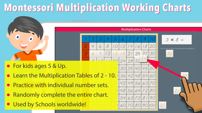 Multiplication Working Charts screenshot 1