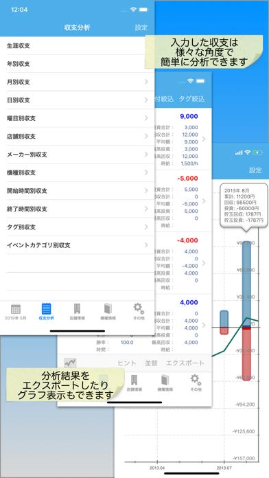 パチンコパチスロ収支管理小役カウンターのpShare ScreenShot2