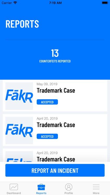 FakR Counterfeit Report screenshot-4