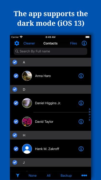 Backup And Manage Contacts screenshot-9