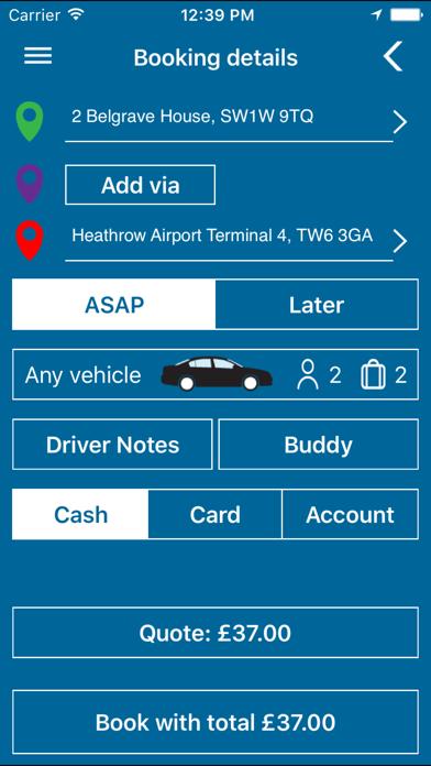 Keen Group Minicab TAXI screenshot three