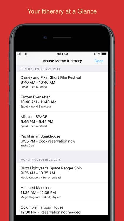 Mouse Memo Trip Organizer screenshot-7