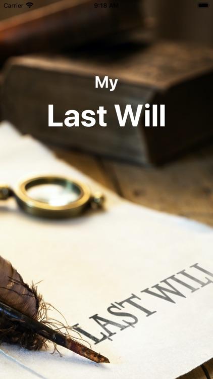 My Last Will