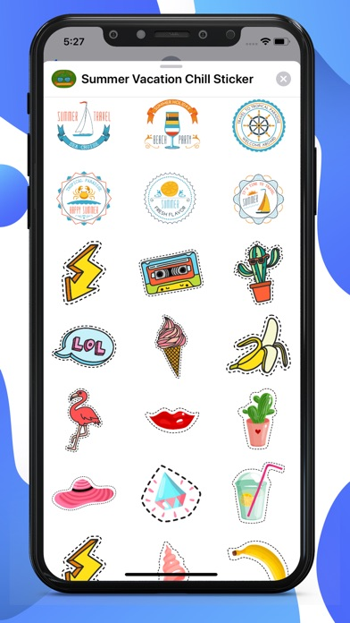 Summer Vacation Chill Stickers screenshot 1