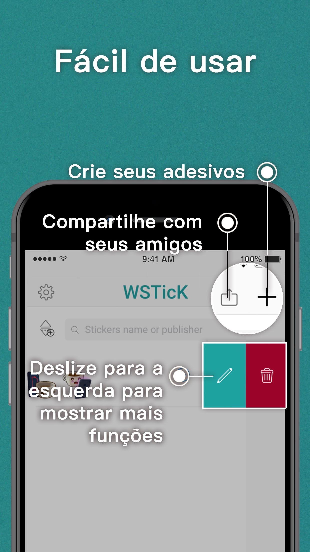 Screenshot do app WSTicK