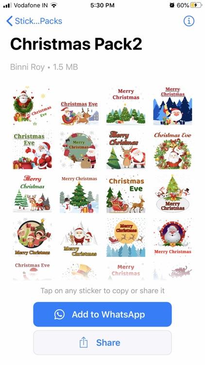 Christmas Sticker -WAStickers screenshot-3