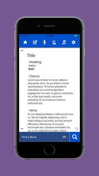 Lyric Notepad screenshot three