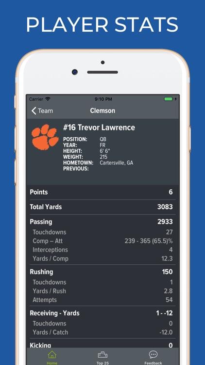 Clemson Football Schedules screenshot-3