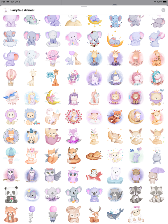Fairytale Baby Animal Stickers screenshot 9