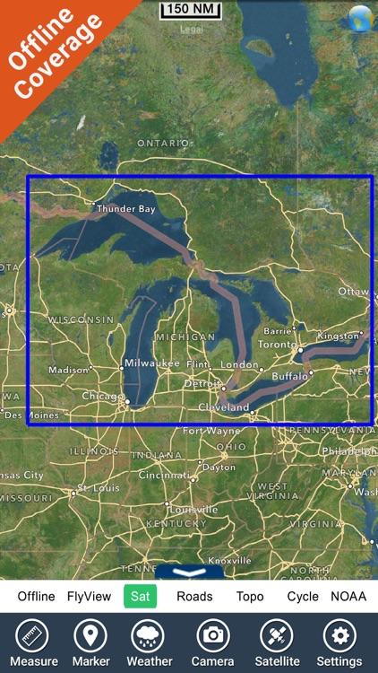 Great Lakes HD Nautical Charts screenshot-7