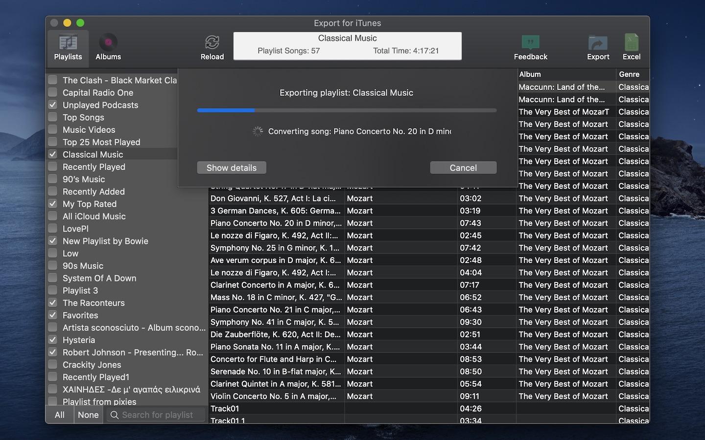 Screenshot do app Export for iTunes