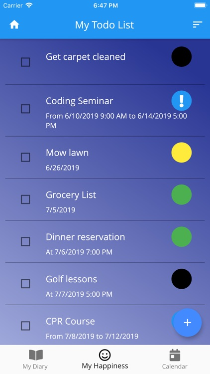 happiness - diary + todo list screenshot-4