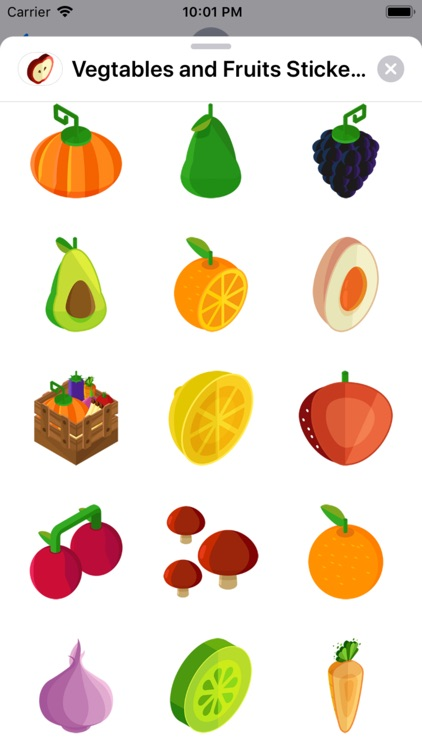 Vegtables and Fruits Stickers
