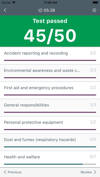 Screenshot for CITB Op/Spec HS&E test 2019 in United States App Store