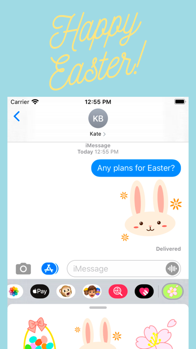 Screenshot of Spring Theme Stickers App
