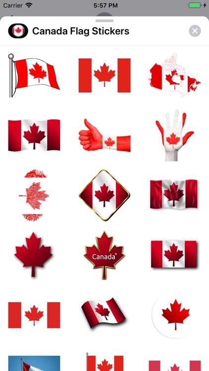 Canada Flag Stickers
