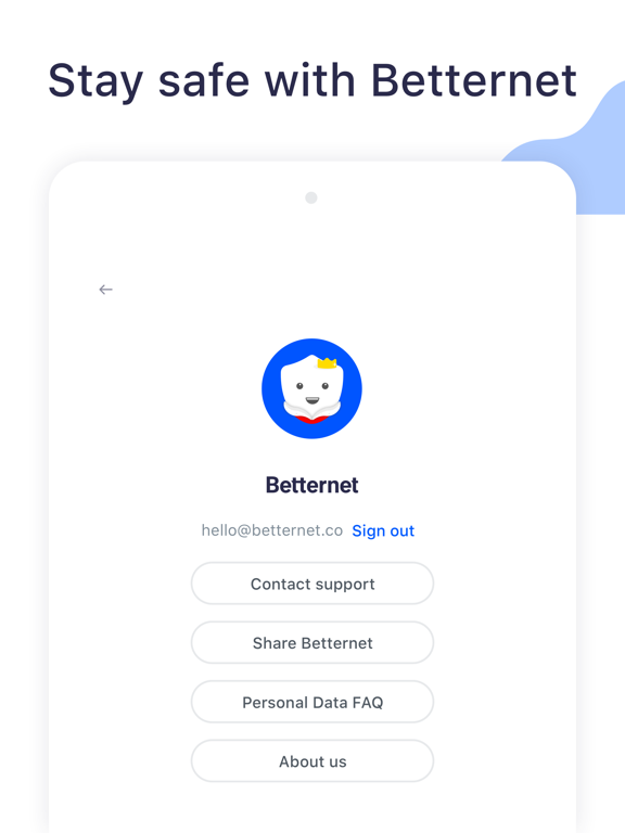 iPad Image of Best VPN Proxy Betternet