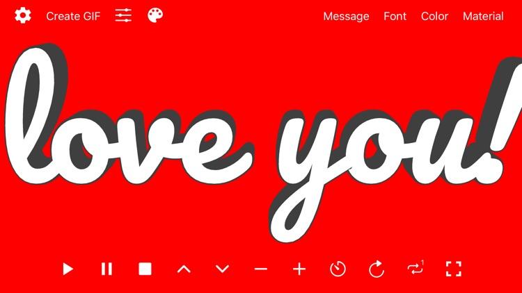 Banner 3D - scrolling text app screenshot-7