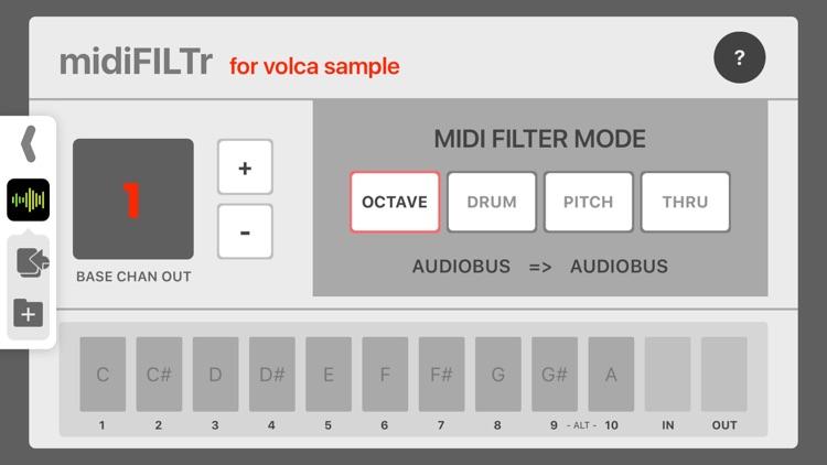 midiFILTr-VS for Volca Sample
