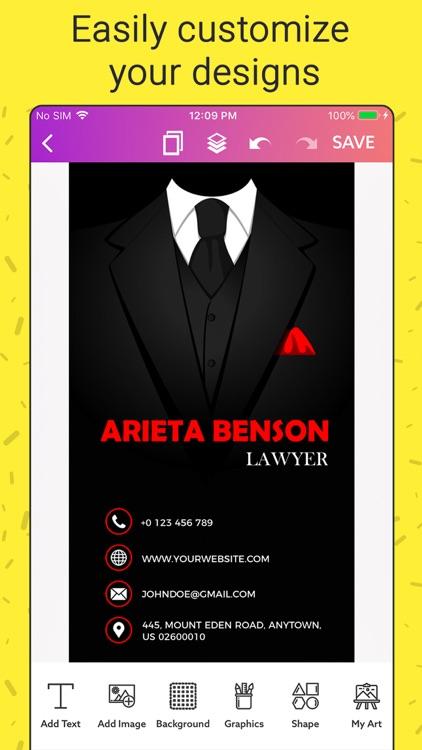 Business Card Maker, Creator screenshot-5