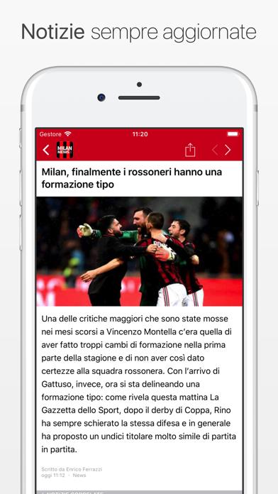 Screenshot #1 pour MilanNews.it