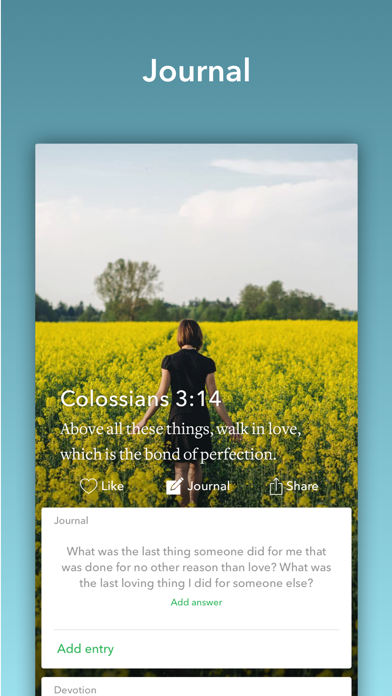 Screenshot for Daily Bible Inspirations in United States App Store