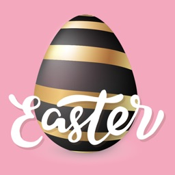 Shiny Easter Egg Stickers