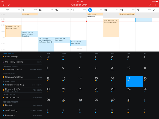 Fantastical 2 for iPad Screenshots