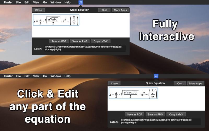 Quick Equation - Menu Edition