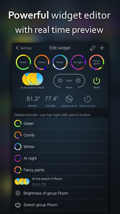 Screenshot for iConnectHue for Philips Hue in Denmark App Store