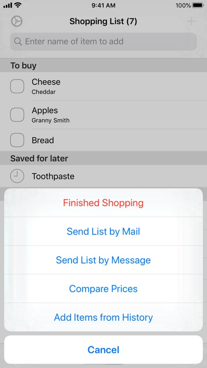 Easy Shopping List Lite screenshot-4